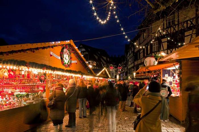 Christmas market in Strasbourg France Europe