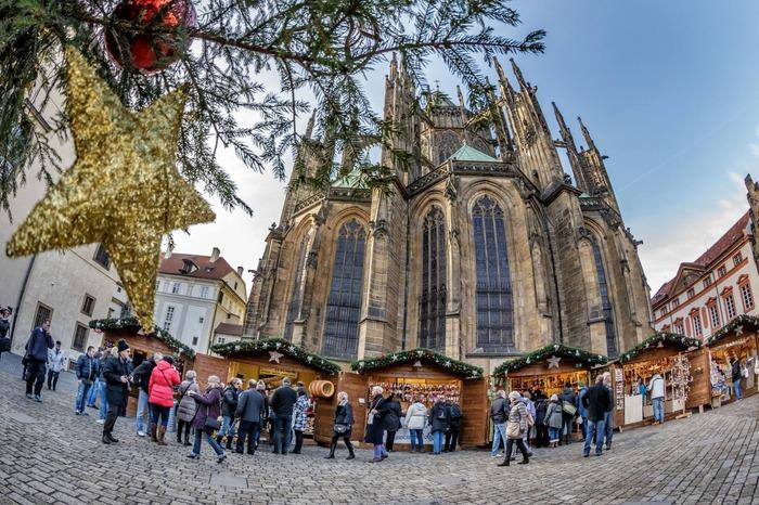 Christmas market in Prague Czech Republic Europe