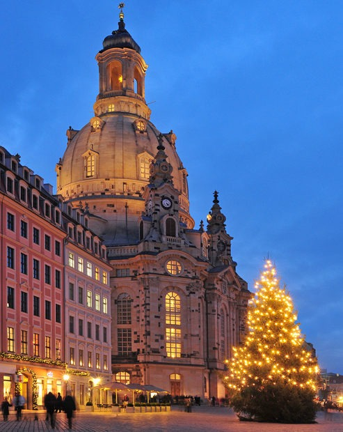 Christmas market in Dresden Germany Europe