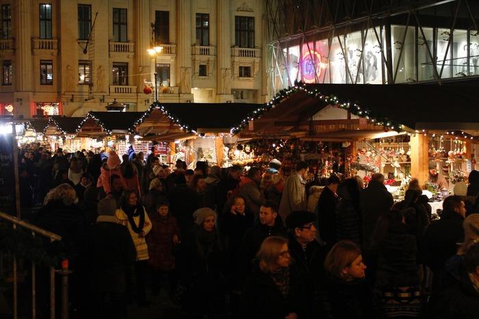 Christmas market in Budapest Hungary Europe
