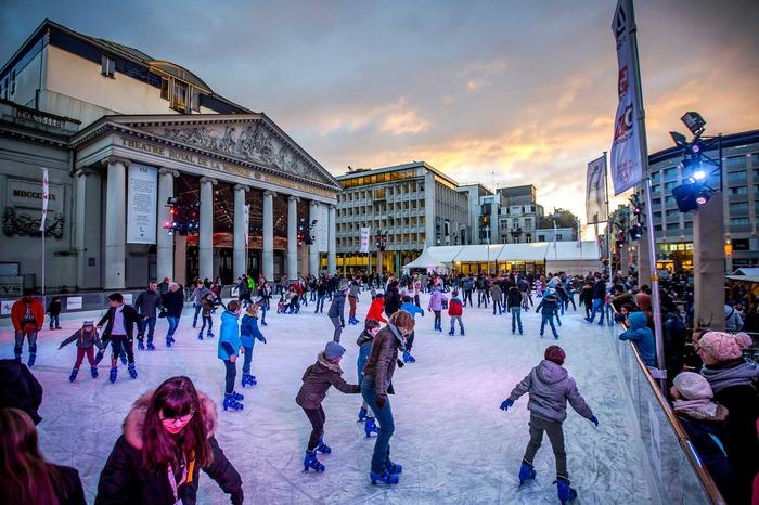 Christmas market in Brussels Belgium Europe