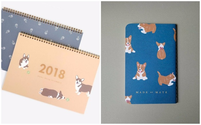 Corgi planners and notebooks
