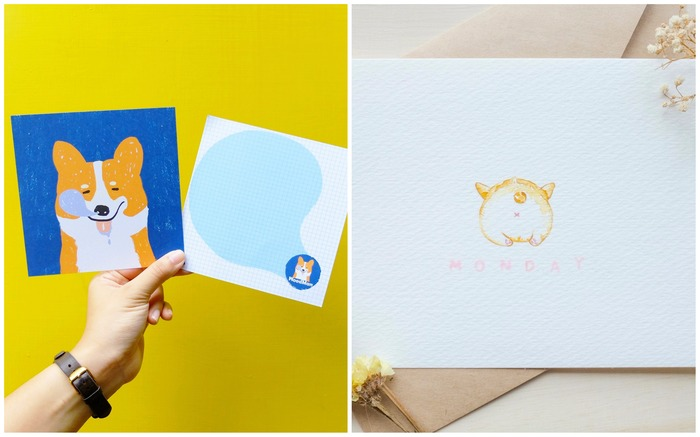 Corgi postcards and cards