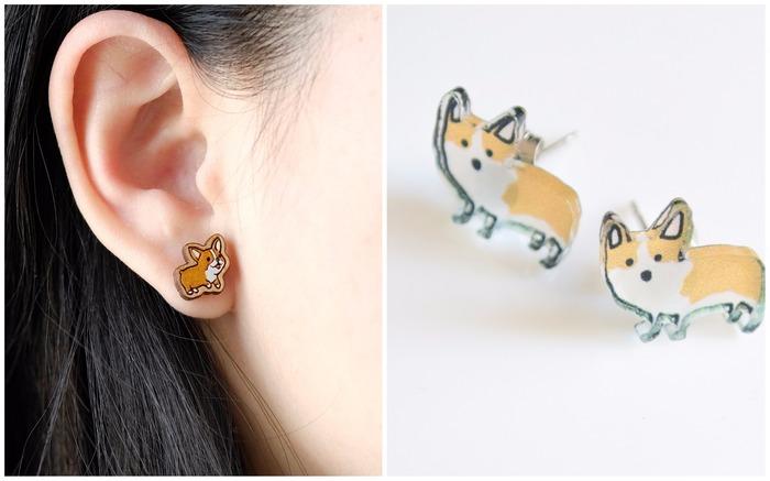 Corgi earrings and studs