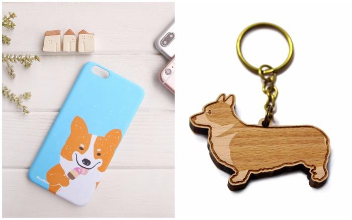 Corgi phone case and keychain
