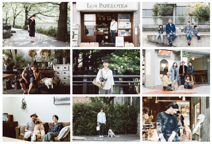 A collage of Hideaki Hamada's photography work