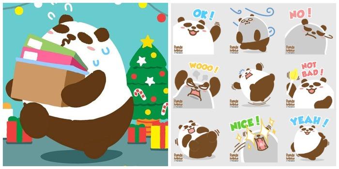 Whatsapp Sticker 貼圖 推介 原創 熊貓 插畫