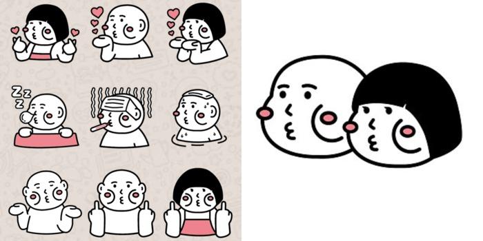Whatsapp Sticker 貼圖 推介 原創 Cheeky Cheeky 厚面子