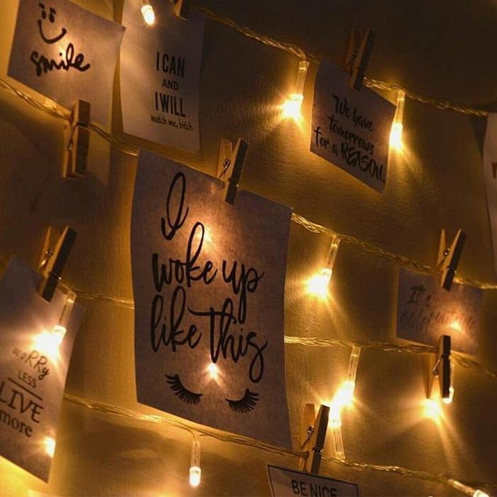 裝飾聖誕節的夾相片 LED 燈飾