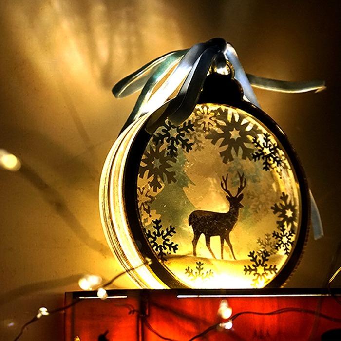 裝飾聖誕節的聖誕夜故事小夜燈掛飾