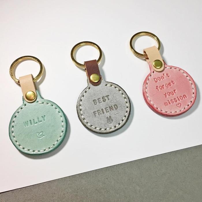 情人節禮物 客製化鑰匙圈 皮革