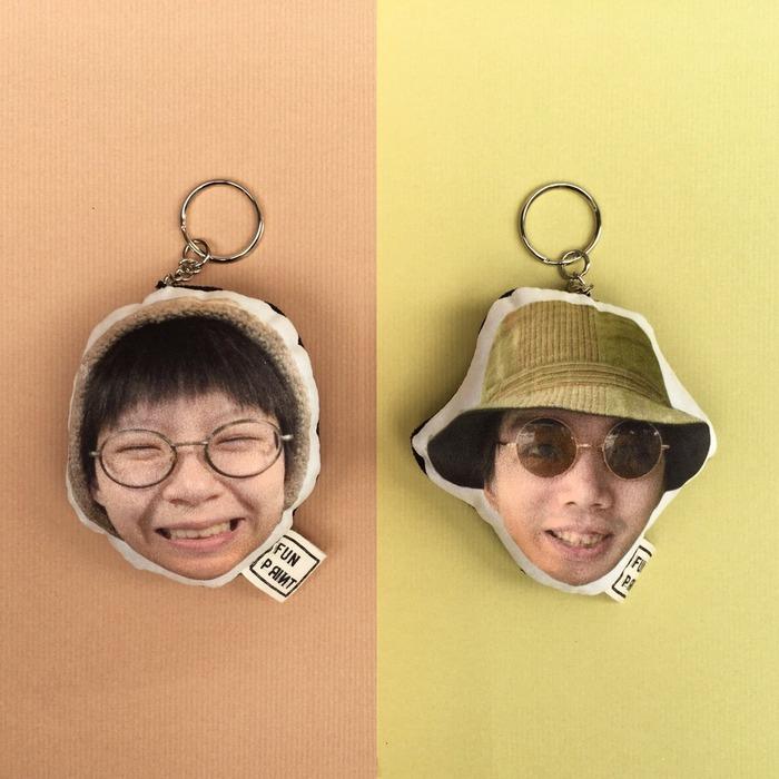 情人節禮物 客製化鑰匙圈 照片 頭像