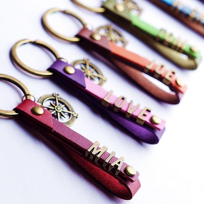 情人節禮物 客製化鑰匙圈 韓國絨 吊飾