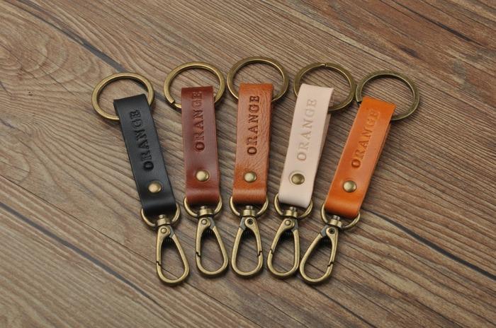 情人節禮物 客製化鑰匙圈 皮質