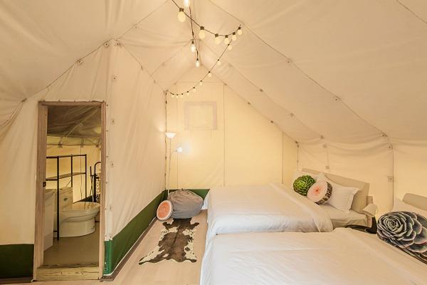 新竹免裝備露營-野漾莊園-帳篷內有獨立衛浴
