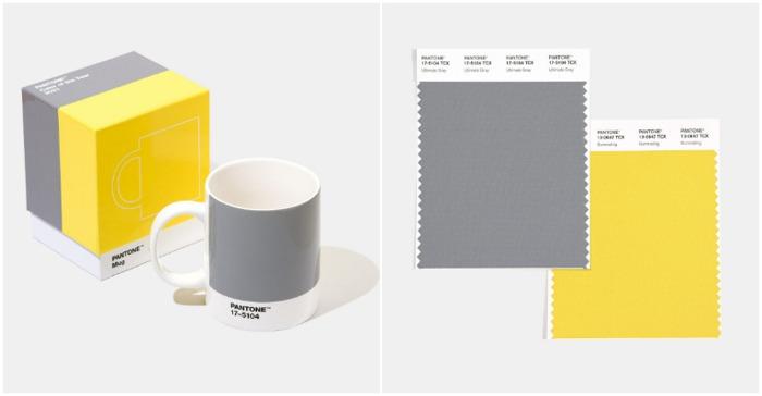 流行色 pantone 2021 年度色 極致灰 燦爛黃