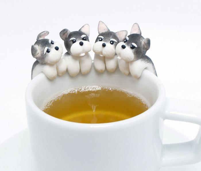 戌年に使いたい犬のマグカップホルダー