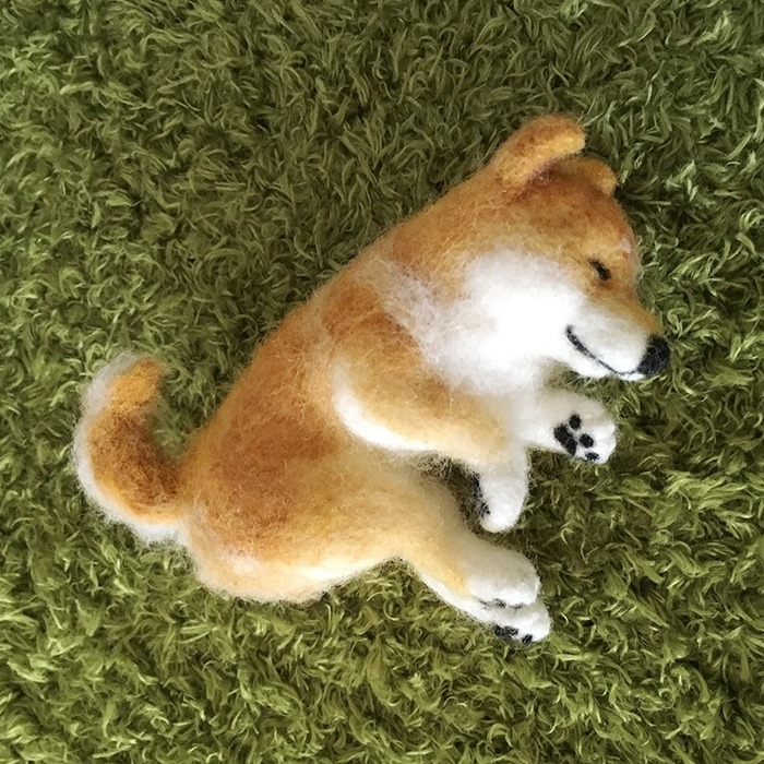 睡覺的柴犬羊毛氈 DIY 材料包