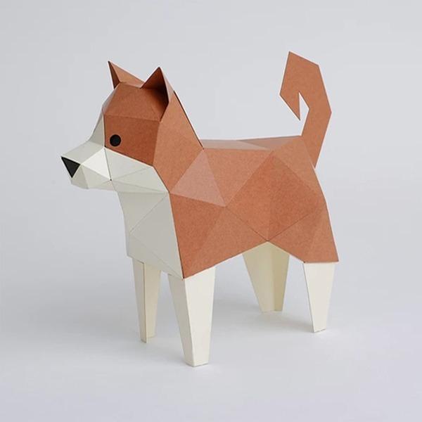 柴犬 摺紙 文具 DIY 手作
