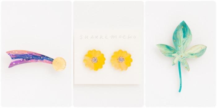 日本飾品推薦 胸針 耳環