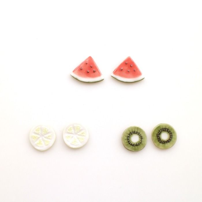 日本飾品推薦 水果耳環