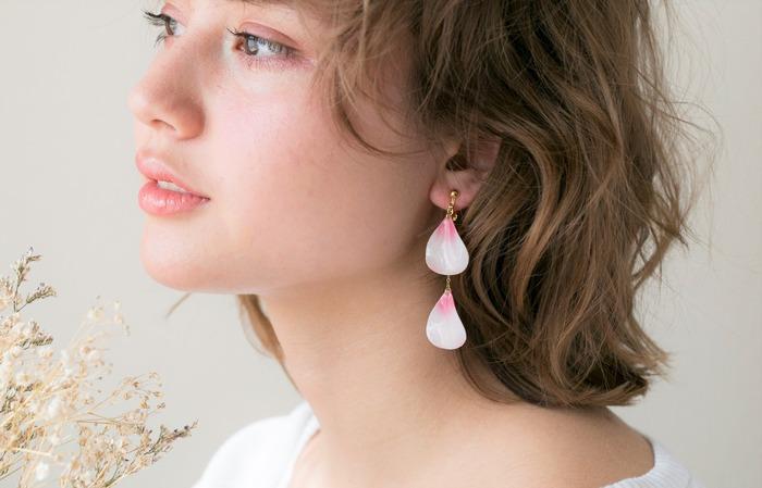 日本飾品推薦 櫻花耳環