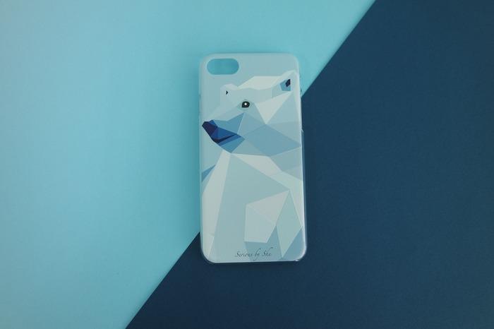 香港環保包包品牌 zoo by shu 的北極熊手機殼