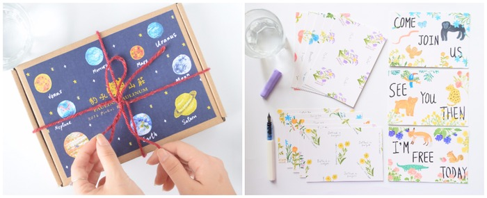 Paulina Paulinum planet stationery set and garden postcard set
