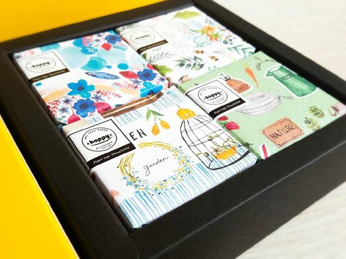 4 Boxes of Hoppy Washi Tape Set