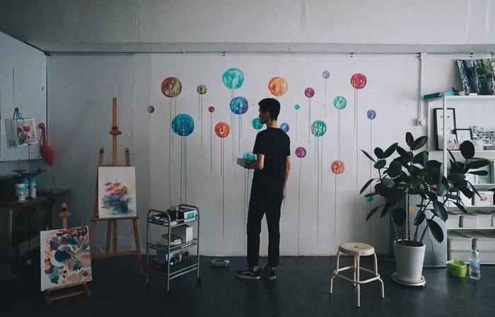 Pinkoi 品品市集 聖誕市集 現場畫畫 live painting
