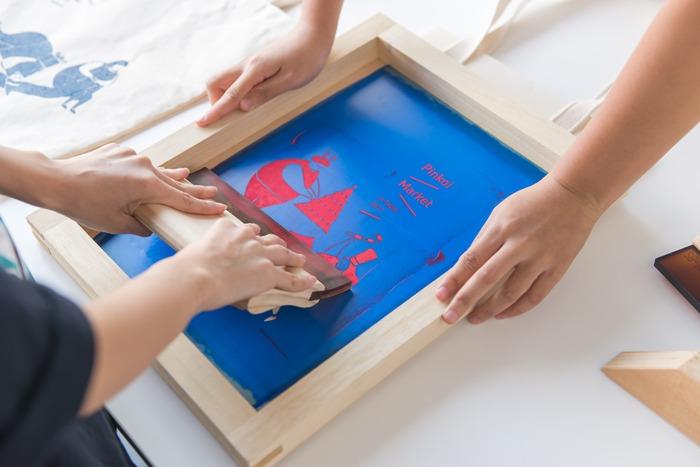 Pinkoi 品品市集 聖誕市集 限定版現場 DIY 絹印
