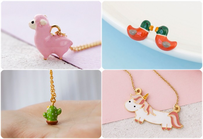 馬來西亞設計 可愛 項鍊 耳環 飾品