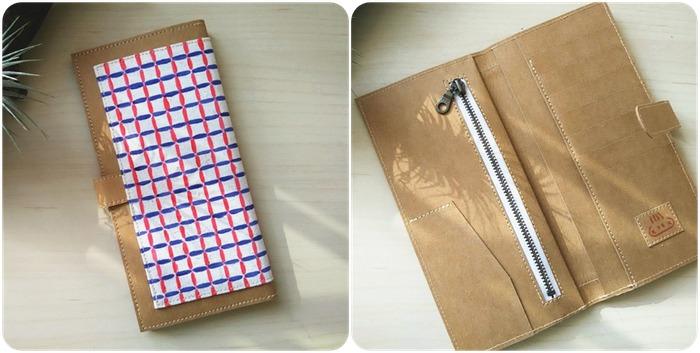 馬來西亞設計 水洗牛皮紙 長夾 皮夾