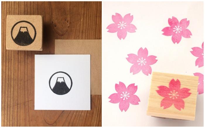 Japan stationery sakura fuji stamps