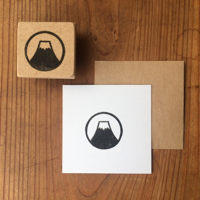 Japanese stationery Mt. Fuji rubber stamps
