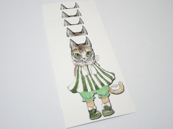 Japanese stationery cat stickers