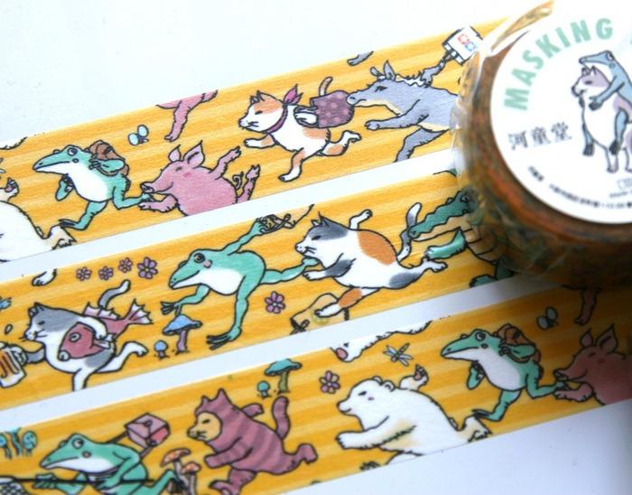 Japanese stationery illustration washi tapes