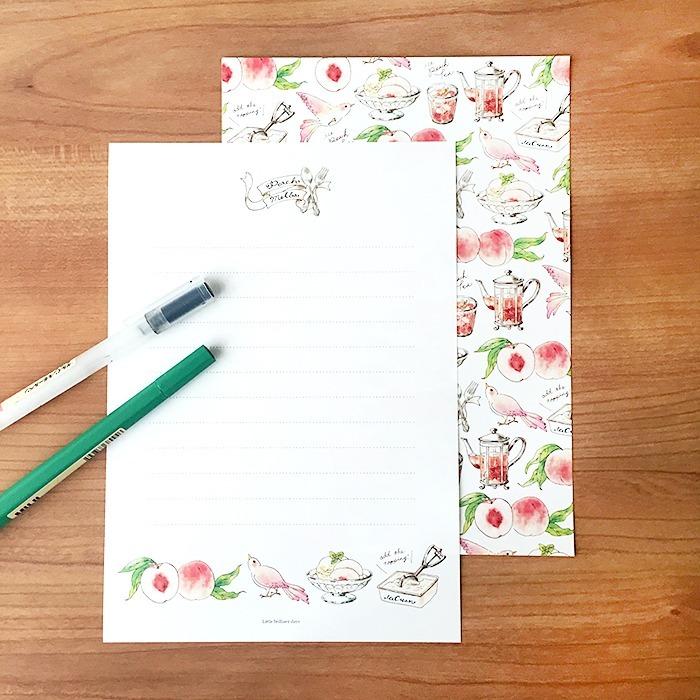 Japanese stationery peach letter set