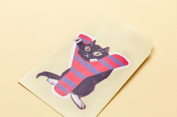 Japanese stationery cat illustration envelopes