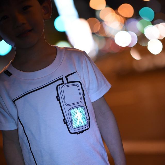 inink 設計 T-shirt 綠燈小人款