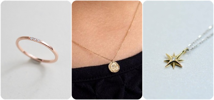 2018 horoscope and birthstones gifts for Aries: diamond ring, diamond necklace