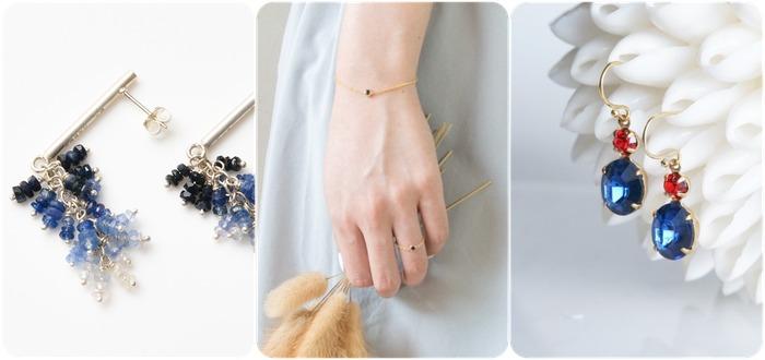 2018 horoscope and birthstones gifts for Virgo: sapphire earrings, sapphire bracelet