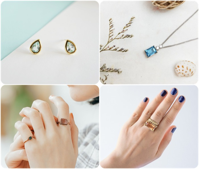 2018 horoscope and birthstones gifts for Scorpio: topaz ring, topaz earrings, topaz necklace