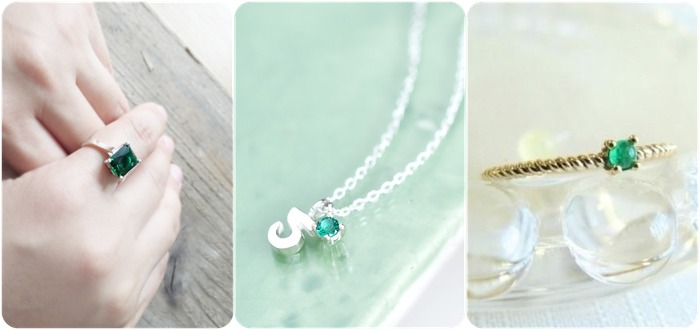 2018 horoscope and birthstones gifts for Taurus: emerald rings, emerald necklace
