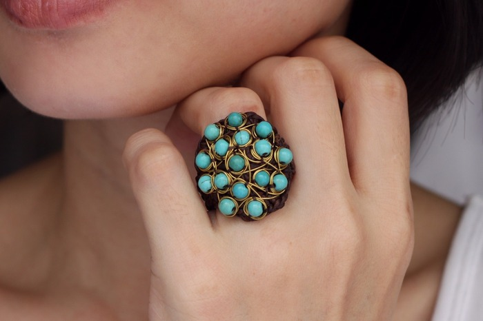 2018 horoscope and birthstones gifts for Sagittarius: turquoise ring