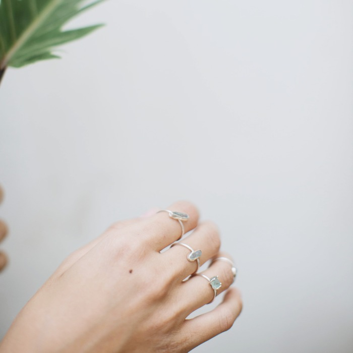 2018 horoscope and birthstones gifts for Pisces: aquamarine rings