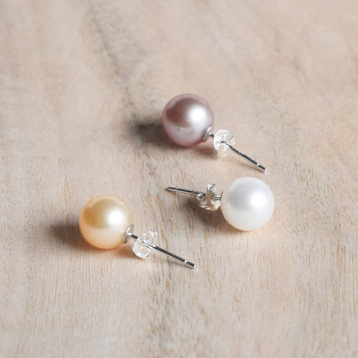 Race L Single Colorful Freshwater Pearl Earrings