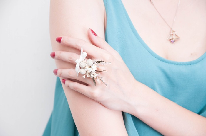 乾燥花戒指