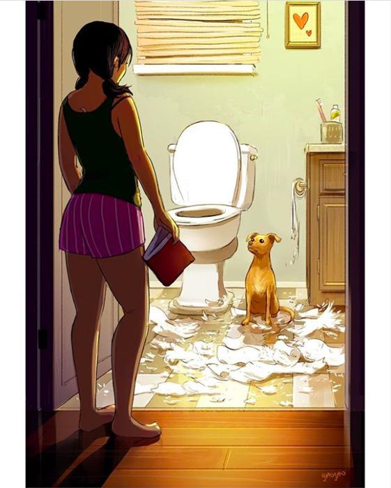孤獨 單身女子 單身 獨居 幸福 一個人 浪漫 孤獨 插畫 獨處