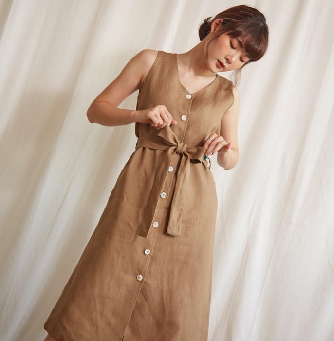 inboxstreetwear 泰國 品牌 麻質 棉麻 連身裙